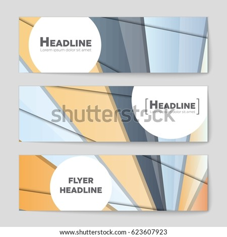 Abstract vector layout background set. For art template design, list, front page, mockup brochure theme style, banner, idea, cover, booklet, print, flyer, book, blank, card, ad, sign, sheet,,  #623607923