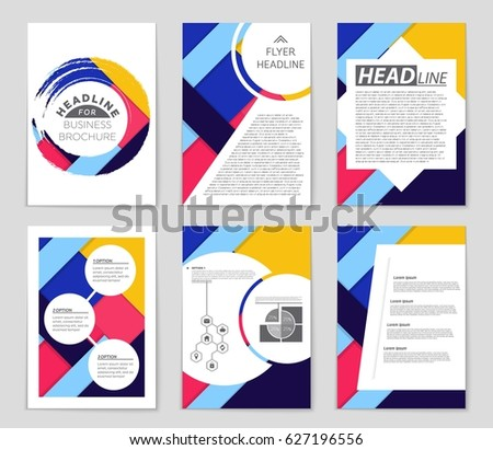 Abstract vector layout background set. For art template design, list, front page, mockup brochure theme style, banner, idea, cover, booklet, print, flyer, book, blank, card, ad, sign, sheet,, a4 #627196556
