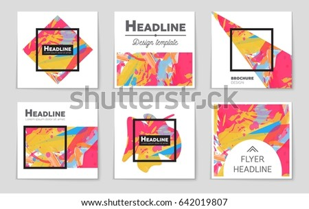 Abstract vector layout background set. For art template design, list, front page, mockup brochure theme style, banner, idea, cover, booklet, print, flyer, book, blank, card, ad, sign, sheet,, a4. #642019807