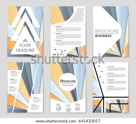 Abstract vector layout background set. For art template design, list, front page, mockup brochure theme style, banner, idea, cover, booklet, print, flyer, book, blank, card, ad, sign, sheet,, a4 #645433057