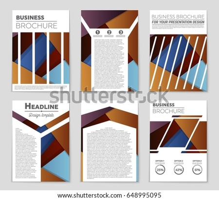 Abstract vector layout background set. For art template design, list, front page, mockup brochure theme style, banner, idea, cover, booklet, print, flyer, book, blank, card, ad, sign, sheet,, a4 #648995095