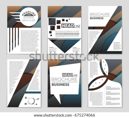 Abstract vector layout background set. For art template design, list, front page, mockup brochure theme style, banner, idea, cover, booklet, print, flyer, book, blank, card, ad, sign, sheet,, a4. #675274066