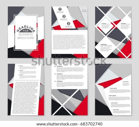 Abstract vector layout background set. For art template design, list, front page, mockup brochure theme style, banner, idea, cover, booklet, print, flyer, book, blank, card, ad, sign, sheet,, a4 #683702740