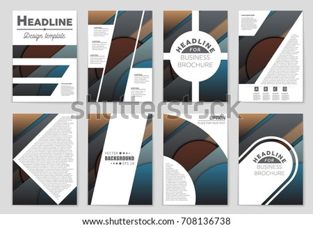 Abstract vector layout background set. For art template design, list, front page, mockup brochure theme style, banner, idea, cover, booklet, print, flyer, book, blank, card, ad, sign, sheet,, a4. #708136738