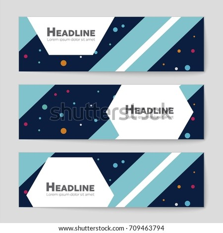 Abstract vector layout background set. For art template design, list, front page, mockup brochure theme style, banner, idea, cover, booklet, print, flyer, book, blank, card, ad, sign, sheet, a4 #709463794