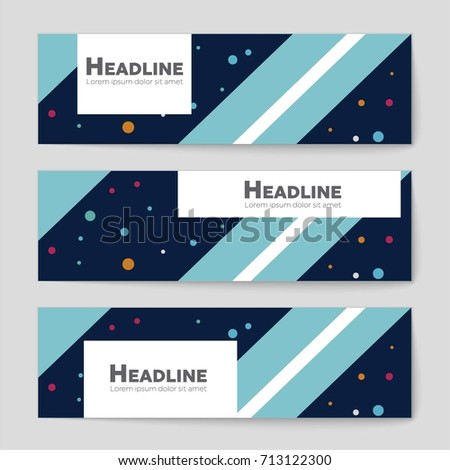 Abstract vector layout background set. For art template design, list, front page, mockup brochure theme style, banner, idea, cover, booklet, print, flyer, book, blank, card, ad, sign, sheet, a4 #713122300