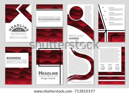 Abstract vector layout background set. For art template design, list, front page, mockup brochure theme style, banner, idea, cover, booklet, print, flyer, book, blank, card, ad, sign, sheet, a4. #713810197