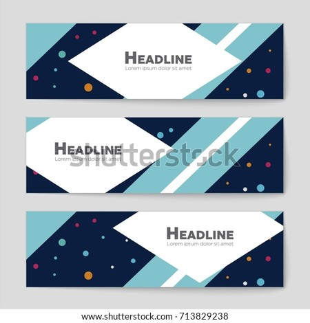 Abstract vector layout background set. For art template design, list, front page, mockup brochure theme style, banner, idea, cover, booklet, print, flyer, book, blank, card, ad, sign, sheet, a4 #713829238