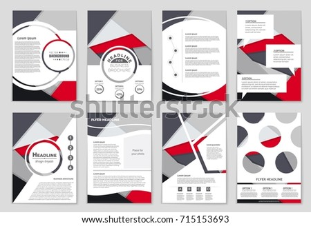 Abstract vector layout background set. For art template design, list, front page, mockup brochure theme style, banner, idea, cover, booklet, print, flyer, book, blank, card, ad, sign, sheet,, a4. #715153693