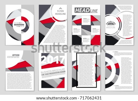 Abstract vector layout background set. For art template design, list, front page, mockup brochure theme style, banner, idea, cover, booklet, print, flyer, book, blank, card, ad, sign, sheet,, a4. #717062431