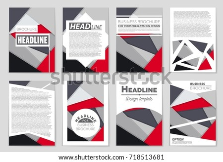 Abstract vector layout background set. For art template design, list, front page, mockup brochure theme style, banner, idea, cover, booklet, print, flyer, book, blank, card, ad, sign, sheet,, a4. #718513681