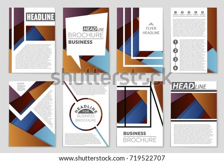 Abstract vector layout background set. For art template design, list, front page, mockup brochure theme style, banner, idea, cover, booklet, print, flyer, book, blank, card, ad, sign, sheet,, a4. #719522707