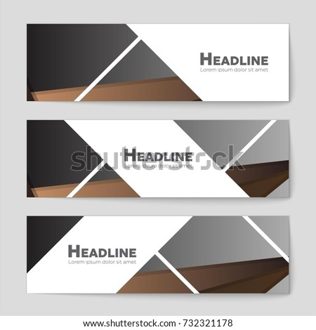 Abstract vector layout background set. For art template design, list, front page, mockup brochure theme style, banner, idea, cover, booklet, print, flyer, book, blank, card, ad, sign, sheet,, a4. #732321178
