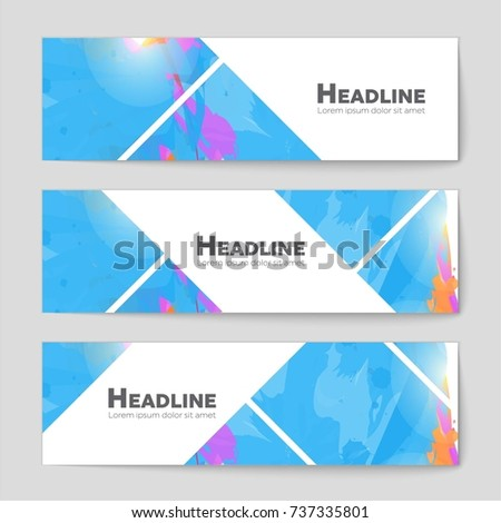 Abstract vector layout background set. For art template design, list, front page, mockup brochure theme style, banner, idea, cover, booklet, print, flyer, book, blank, card, ad, sign, sheet, a4 #737335801