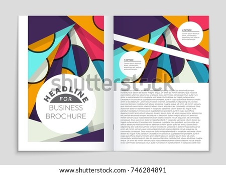 memphis style cover page template design download free vector art