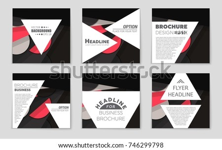 Abstract vector layout background set. For art template design, list, front page, mockup brochure theme style, banner, idea, cover, booklet, print, flyer, book, blank, card, ad, sign, sheet,, a4. #746299798