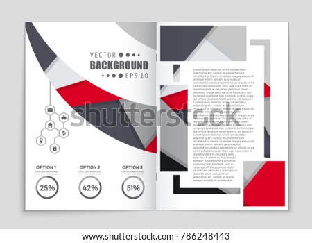 Abstract vector layout background set. For art template design, list, front page, mockup brochure theme style, banner, idea, cover, booklet, print, flyer, book, blank, card, ad, sign, sheet,, a4. #786248443