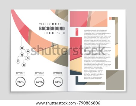 Abstract vector layout background set. For art template design, list, front page, mockup brochure theme style, banner, idea, cover, booklet, print, flyer, book, blank, card, ad, sign, sheet,, a4. #790886806