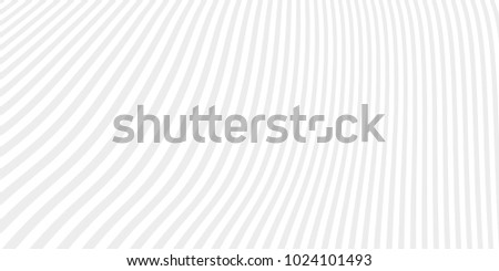 Abstract vector line background. Grey and white curved stripes.