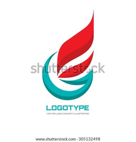 abstract vector logo concept