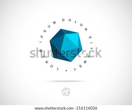 Abstract Vector Logo Design Template Creative 3D Concept Icon