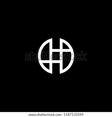 Abstract Vector Logo Design Template. Creative technology H O OH HO Concept Foto stock ©