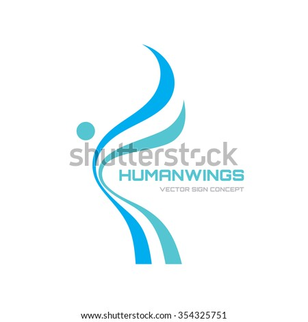 abstract vector logo for beauty