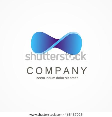 abstract vector logo infinity