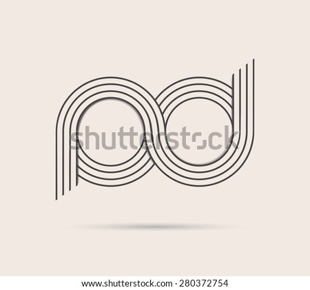 abstract vector logo infinity