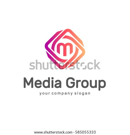 Abstract vector logo. Media Group. Multimedia logo.