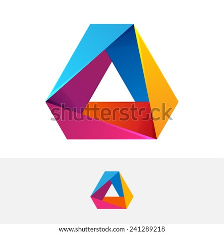 abstract vector logo 3 volume