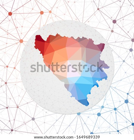 abstract vector map of bosnia