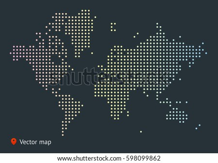 abstract vector map of the