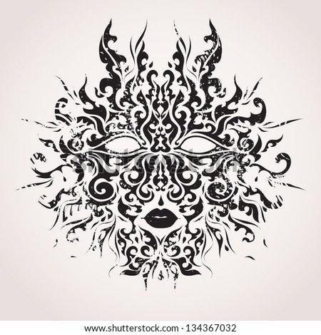 abstract vector mask