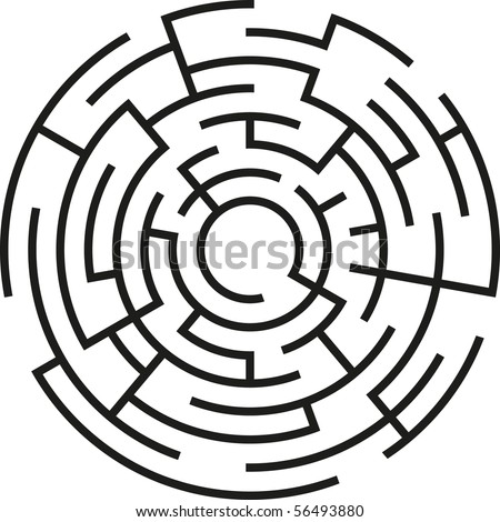 abstract vector maze - stock vector
