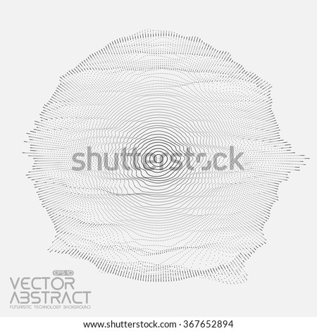 abstract vector mesh on white