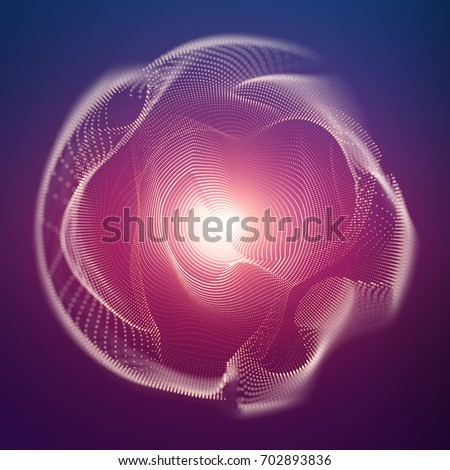 abstract vector mesh sphere on