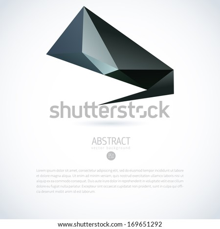 Abstract vector moder background with triangle object  #169651292