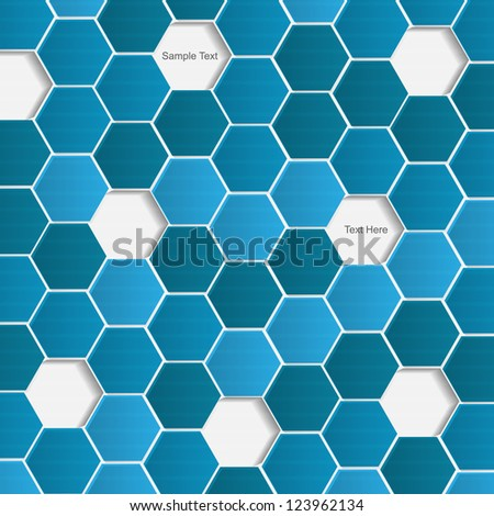 Abstract vector modern background with hexagon