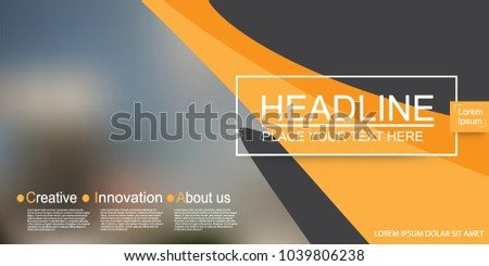 Abstract vector modern cover business brochure vector design, Leaflet advertising abstract background, Modern poster magazine layout template for presentation. #1039806238