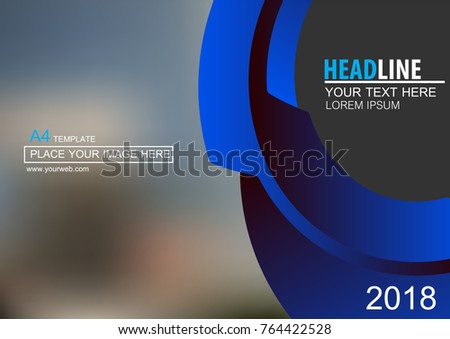 Abstract vector modern cover business brochure vector design, Leaflet advertising abstract background, Modern poster magazine layout template, Horizontal annual report for presentation.A4