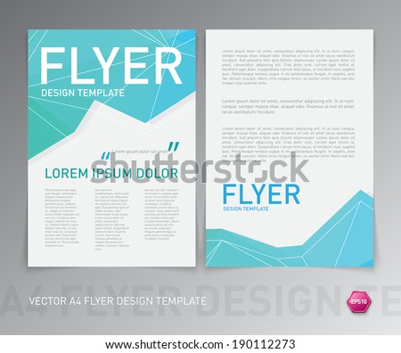 Abstract vector modern flyer / brochure design template.