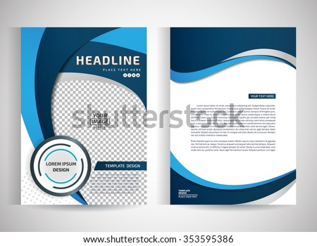 abstract vector modern flyers