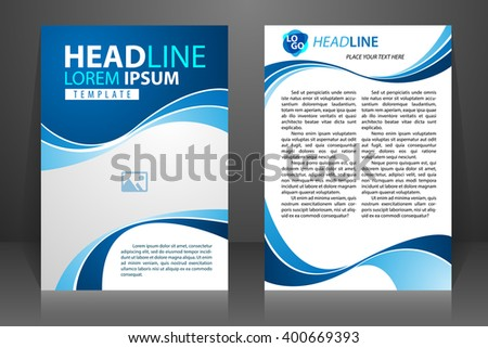 abstract vector modern flyers brochure booklet annual report