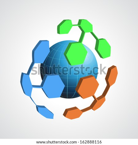 abstract vector modern globe