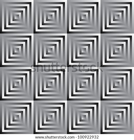 Abstract vector monochrome pattern of squares