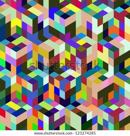Abstract vector mosaic.