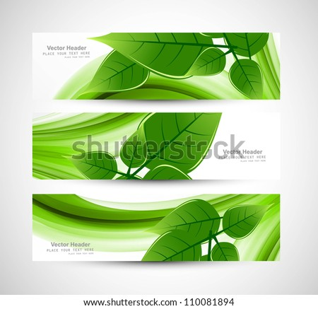 abstract Vector Natural eco green lives header vector