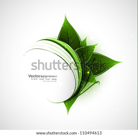 abstract Vector Natural eco green lives swirl wave illustration