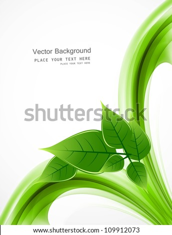 abstract Vector Natural eco green lives wave design